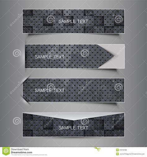header design black and white black and white set of four header designs royalty free