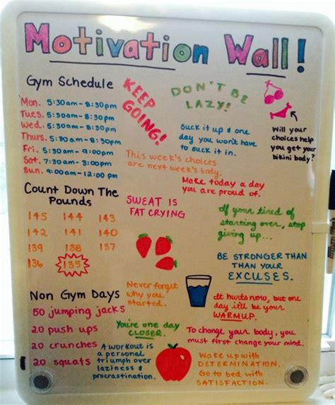 how to lose weight in your bedroom 25 best ideas about motivation wall on pinterest