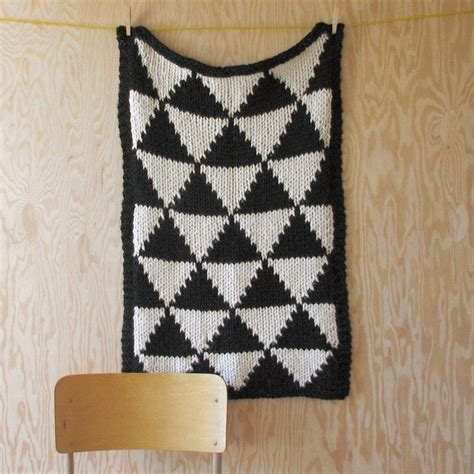 triangle pattern knitting knitted triangle pattern baby blanket for bassinet