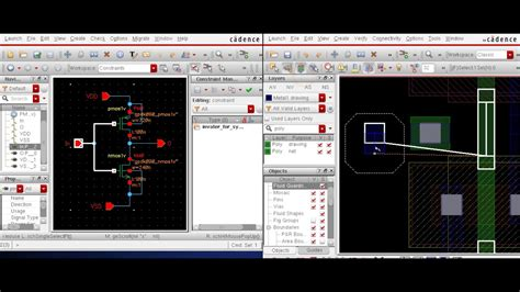 cadence layout youtube 06 cadence inverter layout with drc lvs using cadence