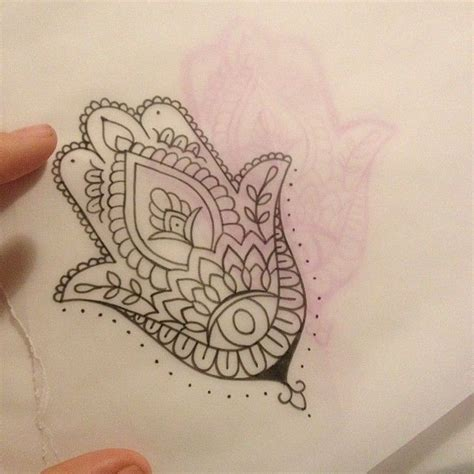 hand of hamsa henna tattoo simple hamsa eclectic ink