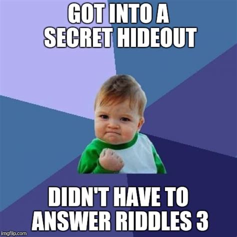 Meme Secret - success kid meme imgflip