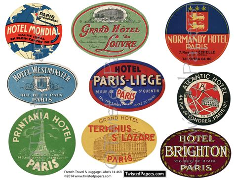 printable travel stickers french luggage labels vintage travel luggage labels france