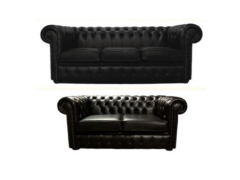 Chesterfield Sofa Suite Chesterfield Genuine Leather Three Two Seater Sofa Suite