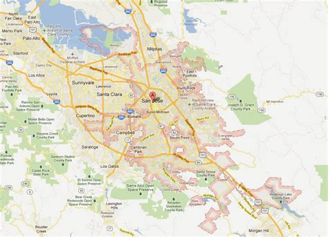 san jose on map san jose california map related keywords san jose