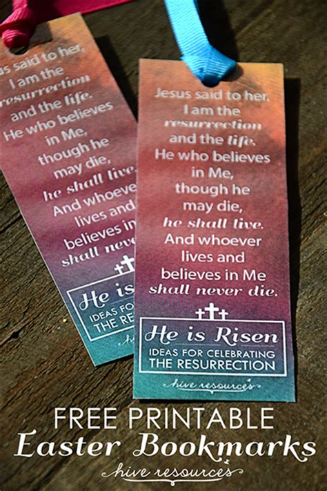 printable religious easter bookmarks he is risen printable bookmarks hive resources