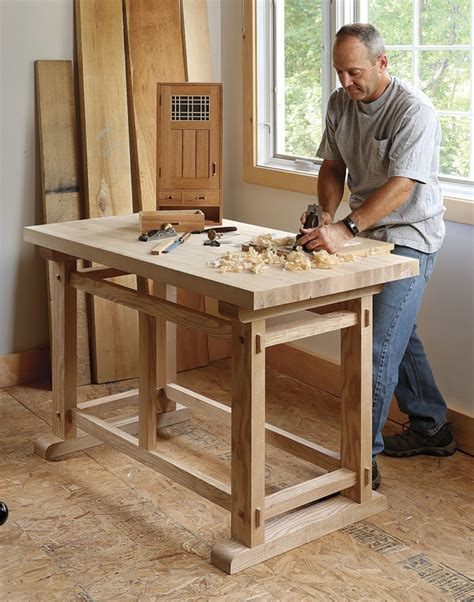 small woodworking bench plans a small sturdy workbench finewoodworking