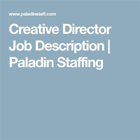 Creative Director Responsibilities by 25 Unique Description Ideas On Any Png And Search