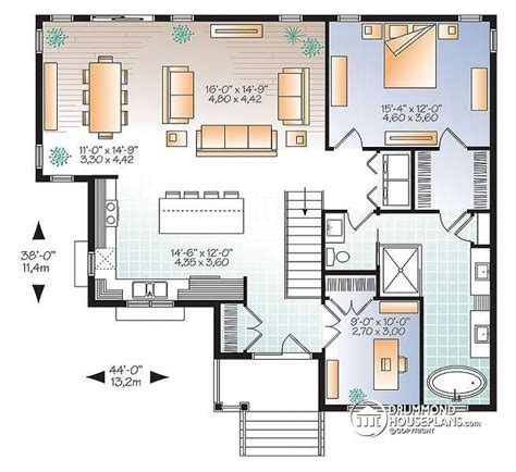 large bungalow house plans 1st level affordable 4 bedroom bungalow large master suite home office large kitchen island