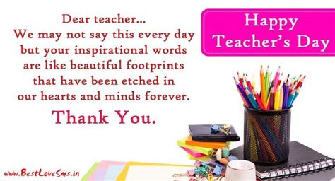 thank you letter for teachers day inspirational messages for teachers day thank you words