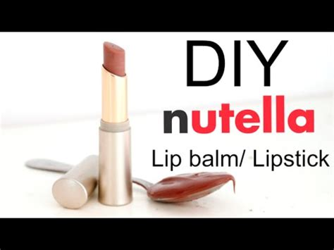 Nutella Lip Balm By Shoppasoap diy easy nutella lipstick lip balm