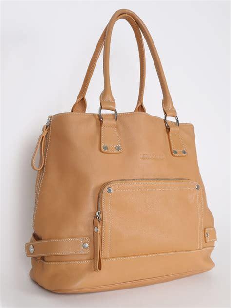Leather Handbag Beige longch beige pocket leather bag luxury bags