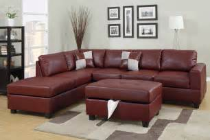 Leather Sectional Sofa Set Burgundy Bonded Leather Sectional Sofa Set Huntington