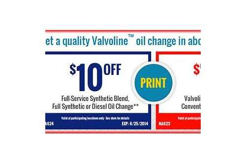 valvoline instant oil change coupon 19.99