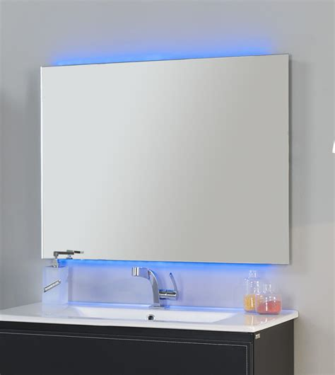 Contemporary Mirrors For Bathroom Led Frameless Mirror Chromatherapy 32 Quot With Remote And Anti Fog System Contemporary