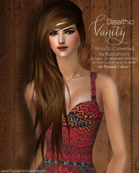 vanity female hair by stealthic at tsr sims 4 updates the sims 2 stealthic vanity female hair all ages