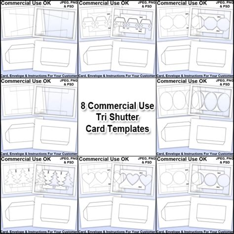 Tri Shutter Card Template by All 8 Tri Shutter Card Envelope Templates Commercial Use