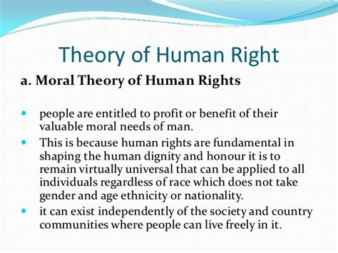 Human Rights Theories Essays by Concept And Theory Of Human Right Group12