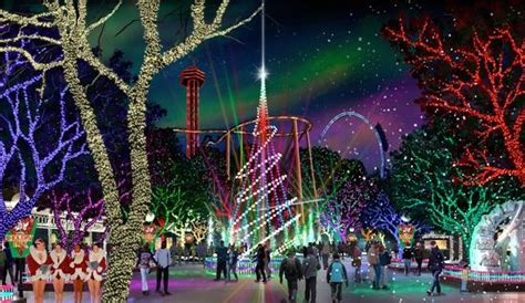 magic winter lights dallas six flags will bring in the park to magic