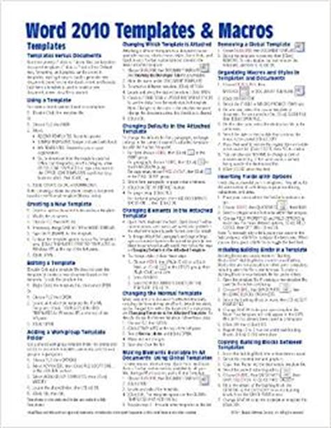 quick reference guide templates for word flip to back flip to front