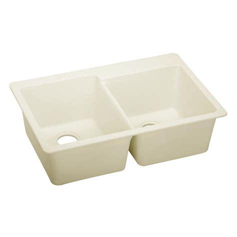 Quartz Kitchen Sinks Elkay Premium Quartz Undermount Composite 33 In Bowl Kitchen Sink In Charcoal