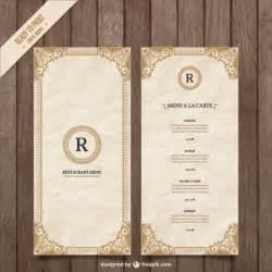 menu book template plantilla de 250 ornamental descargar vectores gratis