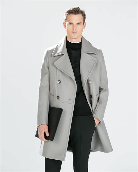 light grey long coat light coats for men jacketin