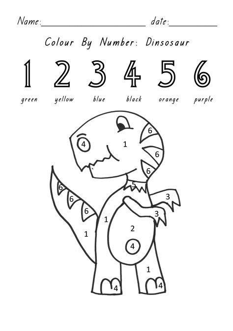 dinosaur coloring pages color by number printable coloring pages by number dinosaurs printable