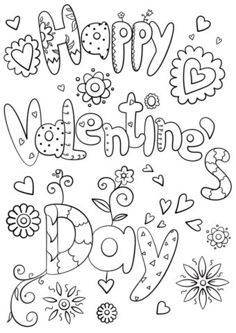 valentines coloring page happy s day coloring page free printable