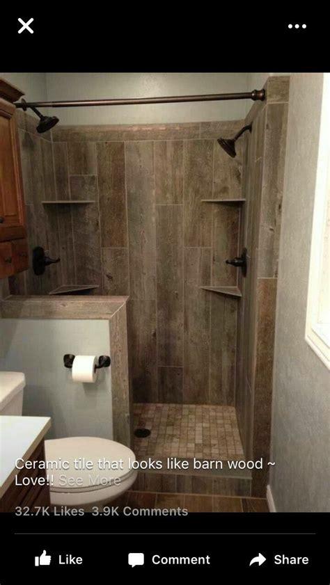 barn wood tile master bath ideas pinterest wood