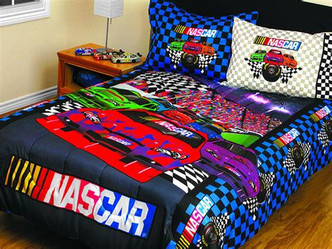 nascar comforter set 3pc race car bedding twin full bed
