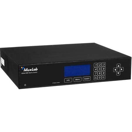 muxlab hdmi 8x8 matrix switch, hdbt, poe, united states