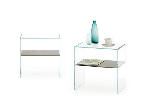 comodino trasparente comodino in vetro trasparente multiglass homeplaneur