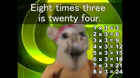 table 2 song the 3 times tables song