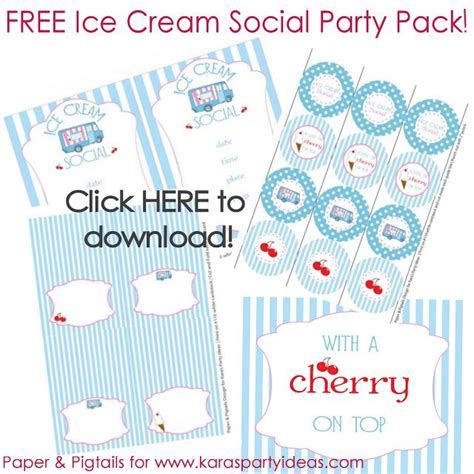 printable ice cream party decorations 17 best ice cream social third birthday party images on