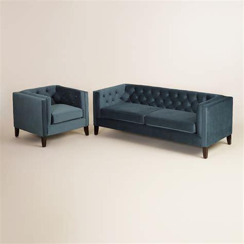 midnight blue sectional sofa midnight blue kendall velvet sofa world market
