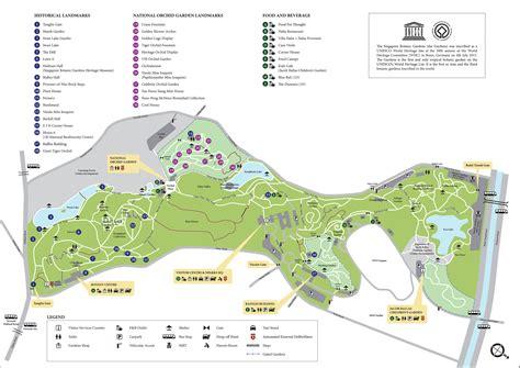 แจกฟร แผนท ภายในสวนพฤษศาสตร ส งคโปร ค ม อตะลอนเท ยว Singapore Botanical Garden Map