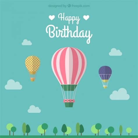 birthday card template freepik air balloon vectors photos and psd files free