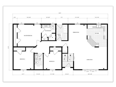 square house plans open floor plan 1500 square feet