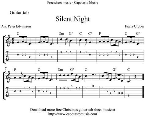 printable version of guitar chords silent night easy sheet music sheet music scores silent