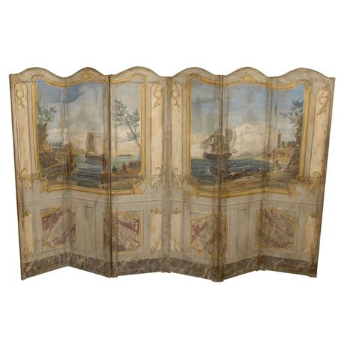 Vintage Painted Tri Fold Room 1000 Images About Antique Folding Screens On