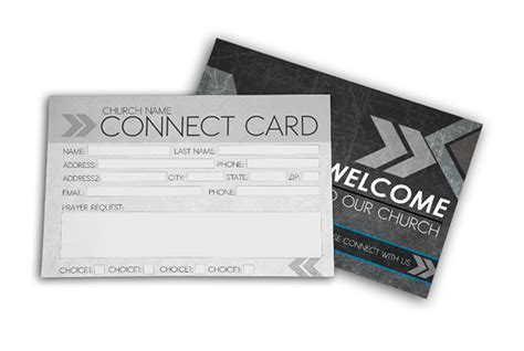 connection cards free template church connect card gray digital316 net