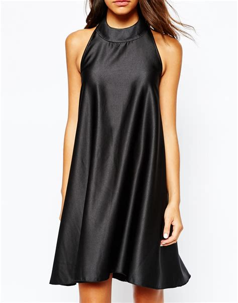 Halterneck Dress asos never fully dressed satin halterneck dress satiny