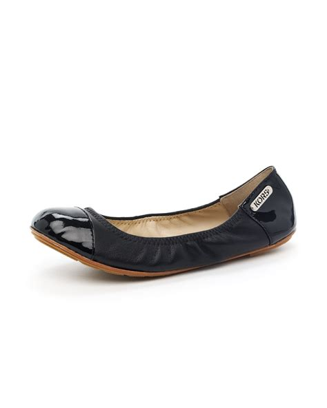 michael kors flat shoes kors by michael kors erin patent leather ballet flat in