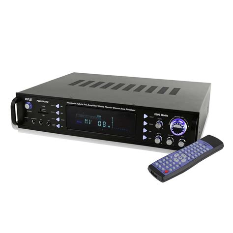 pyle home theater bluetooth hybrid pre amplifier stereo