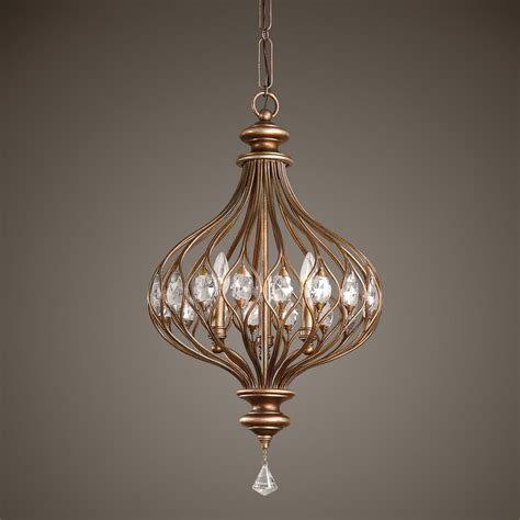 Light Fixtures Pendant New Aged Gold Metal Pendant Hanging Ceiling Light Fixture Cut Accents Ebay