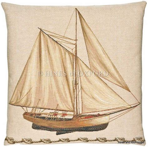 nautical boat cushions sailing boat fine woven nautical tapestry cushion
