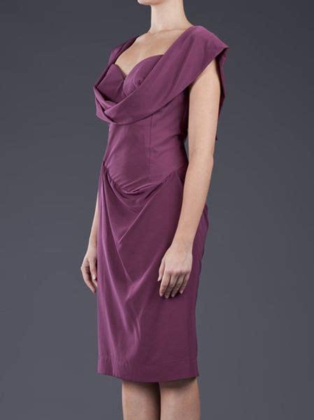 purple drape dress vivienne westwood red label drape dress in purple lyst
