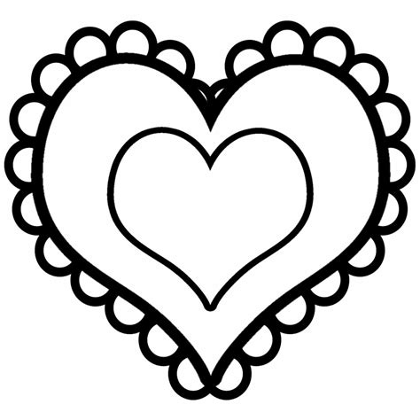 coloring page of a heart free printable heart coloring pages for kids
