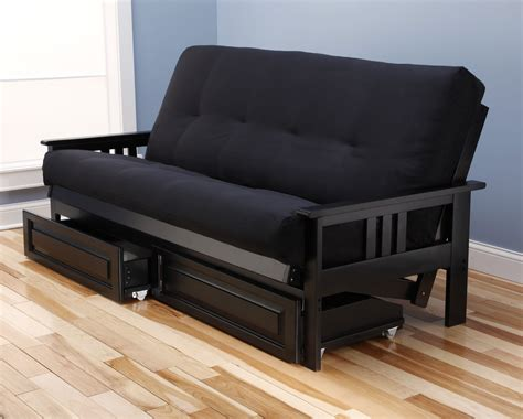 futon black monterey futon frame black by kodiak